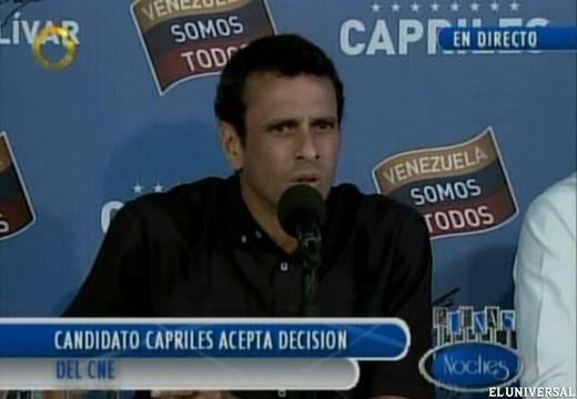 El Universal: Capriles acepta ampliación de la auditoría ciudadana decidida por el CNE