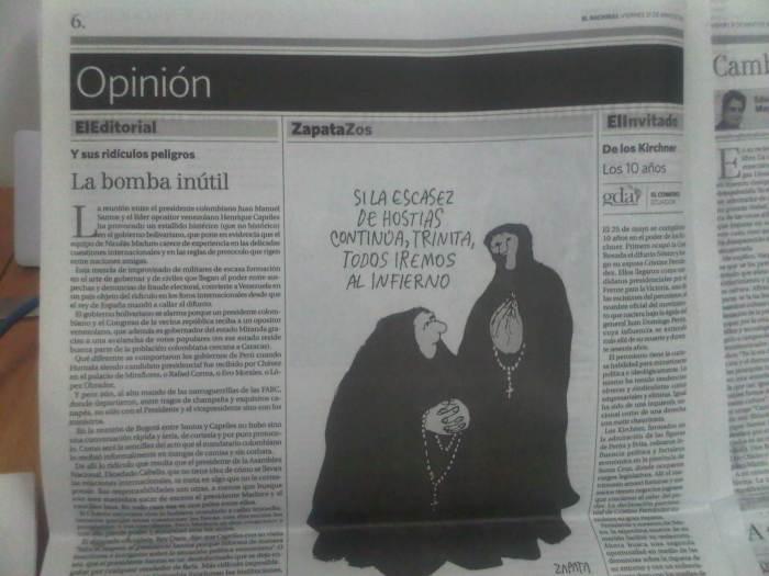 La bomba inútil (Miguel Henrique Otero – El Nacional)
