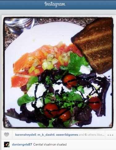 Foto de comida en Instagram